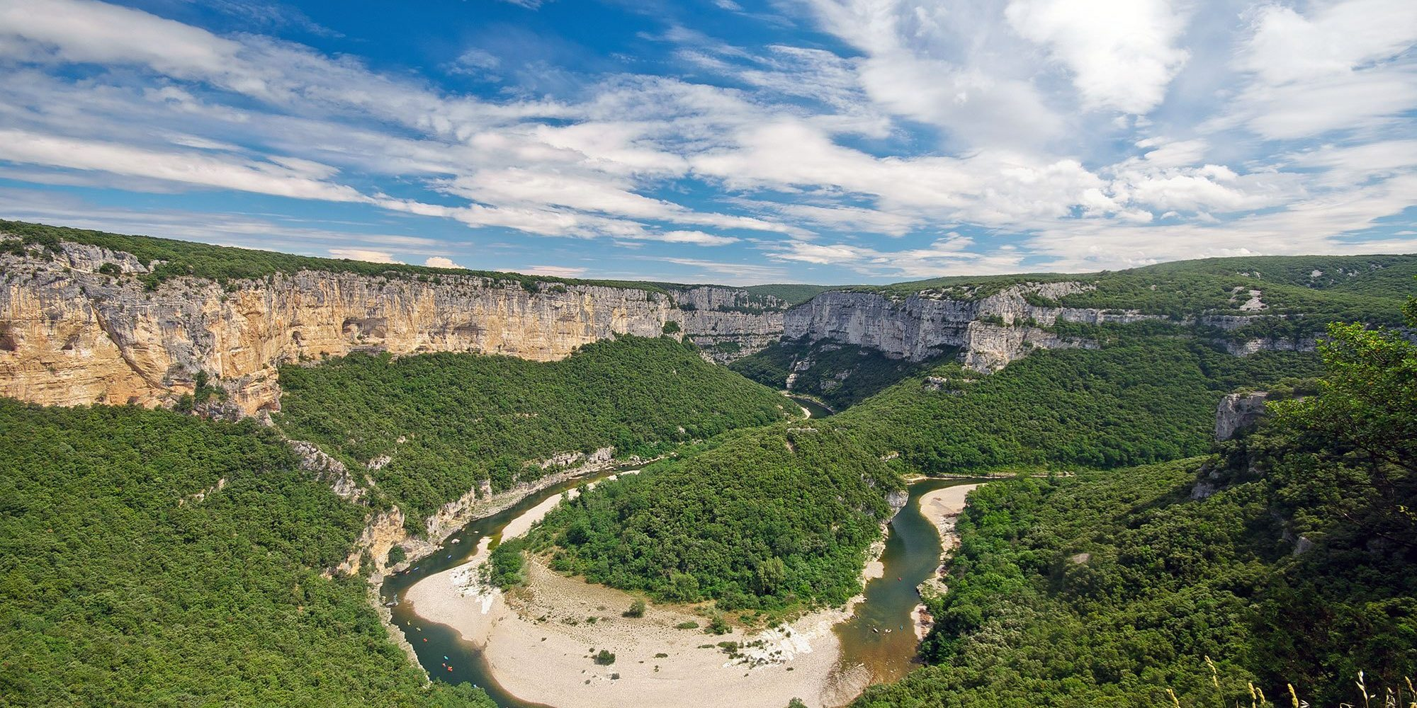 The Gorges de l'Ardèche (Ardèche gorges)
